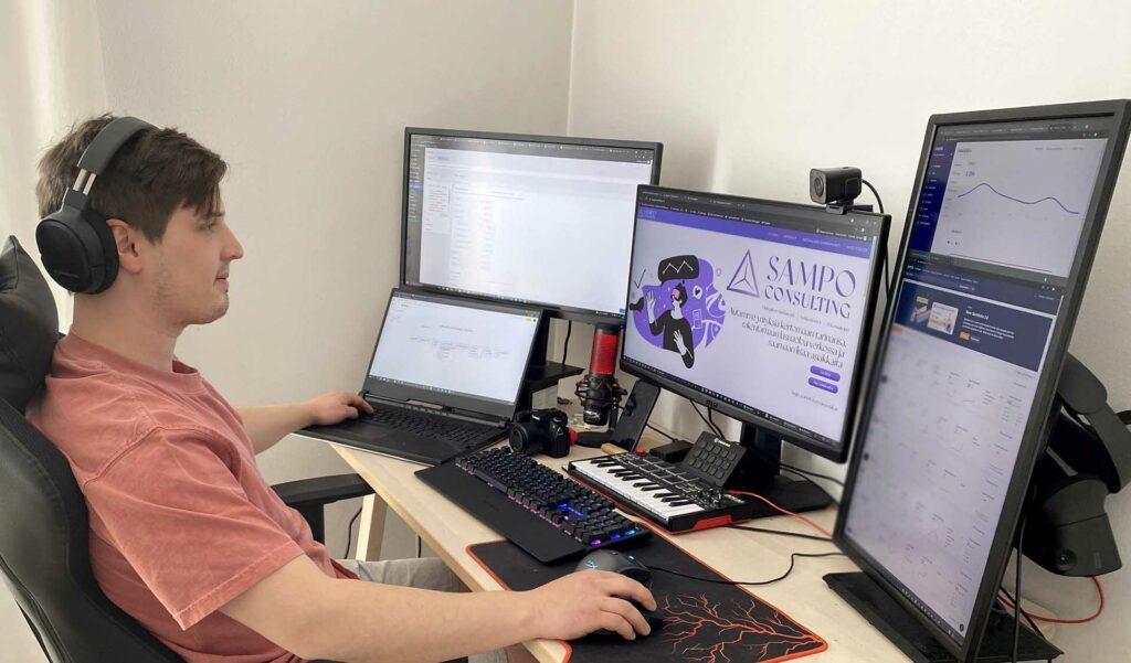 UX / UI Suunnittelija Sampo tekee työtä intohimolla